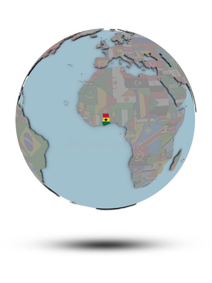 被隔绝的政治地球的加纳 皇族释放例证