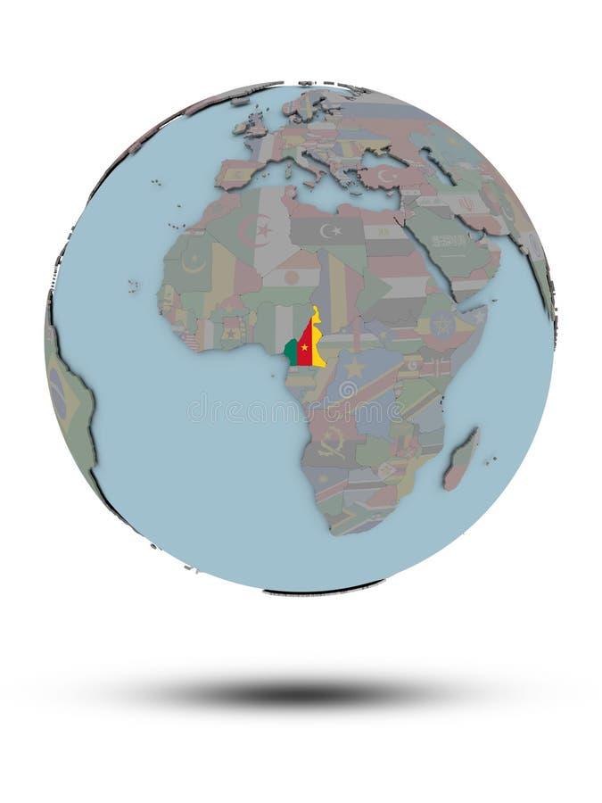 被隔绝的政治地球的喀麦隆 库存例证
