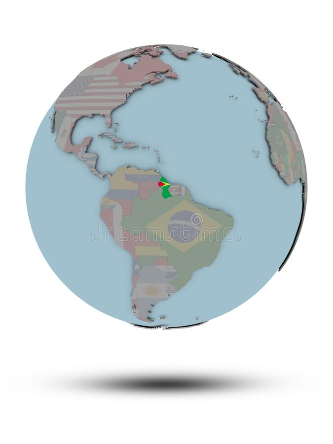 被隔绝的政治地球的圭亚那 皇族释放例证