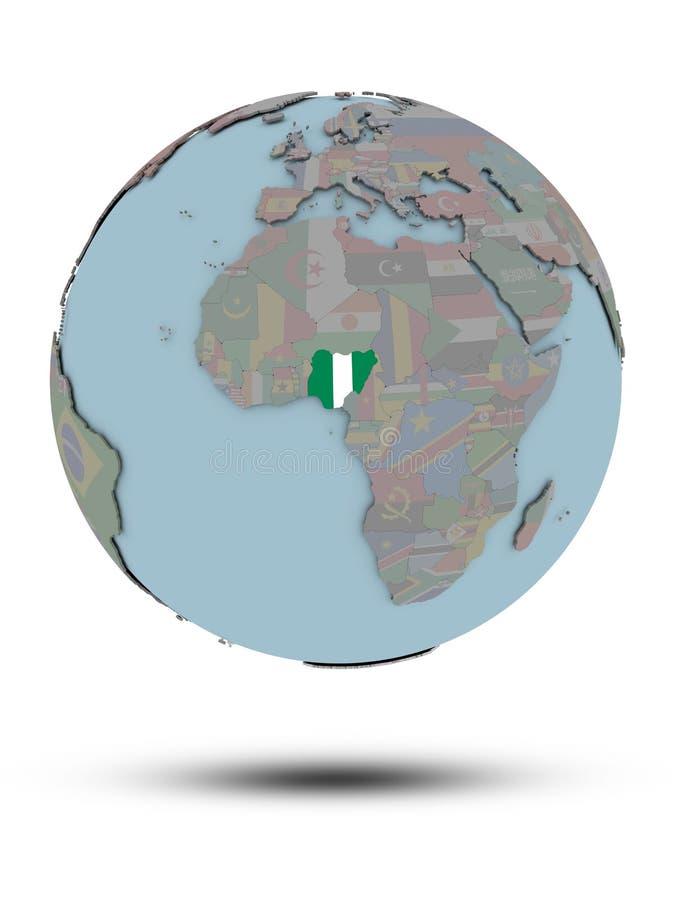 被隔绝的政治地球的尼日利亚 皇族释放例证