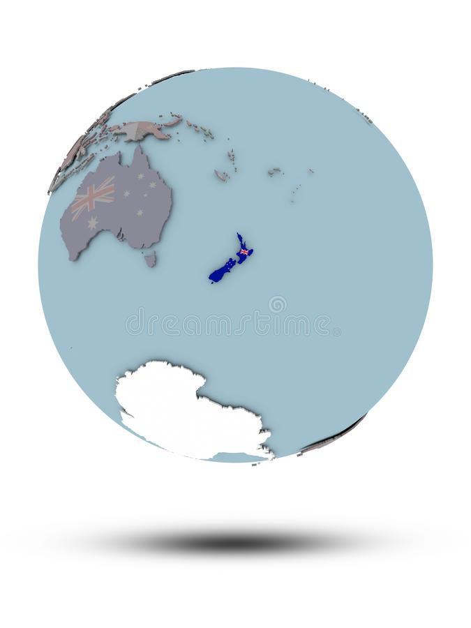 被隔绝的政治地球的新西兰 皇族释放例证