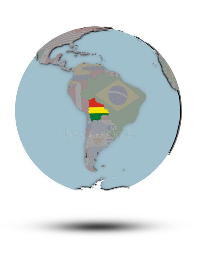 被隔绝的政治地球的玻利维亚 向量例证