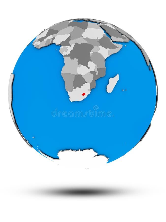 被隔绝的政治地球的莱索托 皇族释放例证