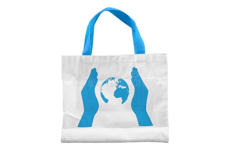 被隔绝的救球地球织品袋子 库存图片
