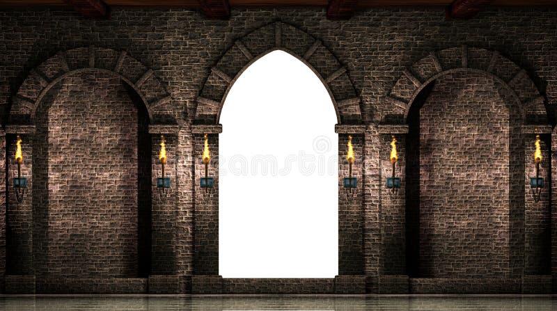 被隔绝的曲拱和门 皇族释放例证