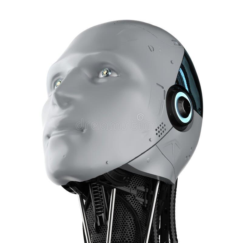 被隔绝的有人的特点的机器人 向量例证