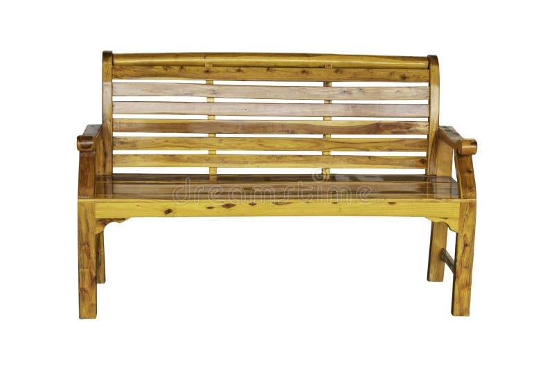 被隔绝的木椅子为坐并且放松与在白色背景的美丽的木五谷与裁减路线 免版税图库摄影