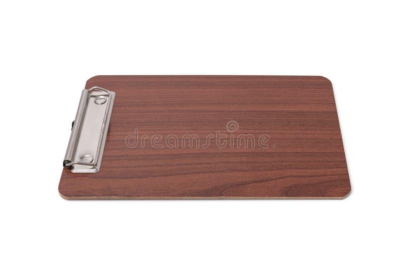 被隔绝的木空白的剪贴板 免版税库存图片