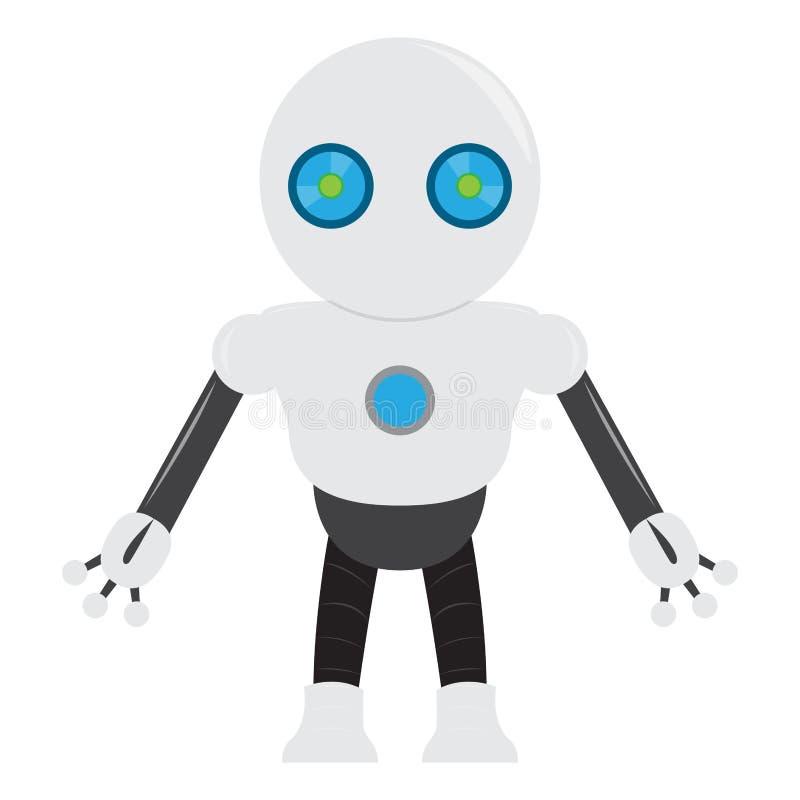 被隔绝的机器人玩具-传染媒介 库存例证