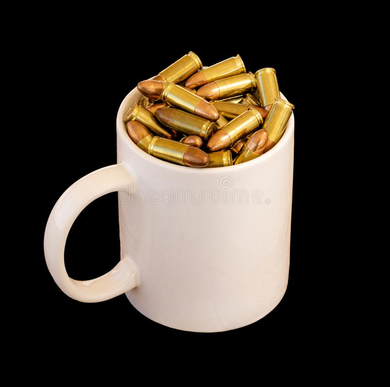 -被隔绝的杯子弹 免版税库存照片