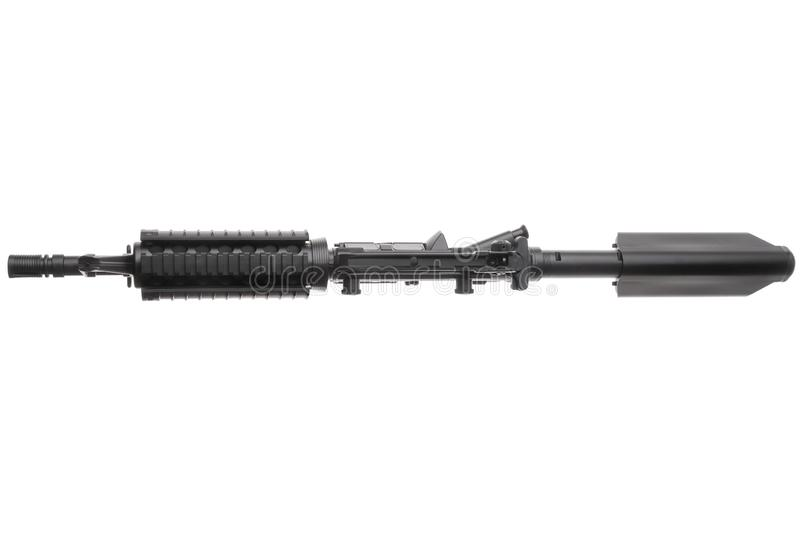 被隔绝的武器AR-15 免版税库存图片