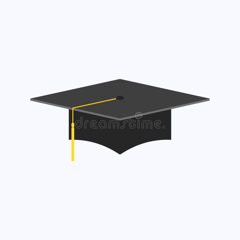 被隔绝的毕业盖帽平的样式 库存例证