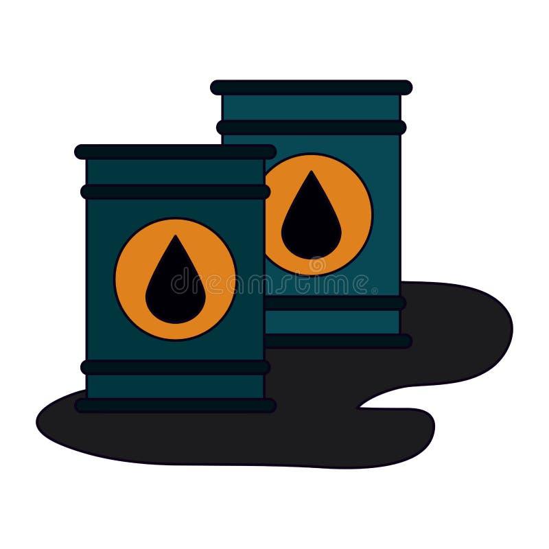 被隔绝的油桶 库存例证