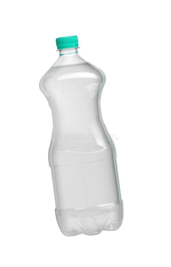 被隔绝的湿塑料水瓶 图库摄影
