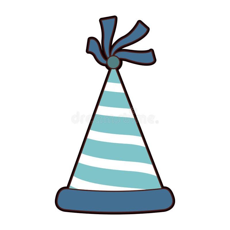 被隔绝的生日帽子 库存例证