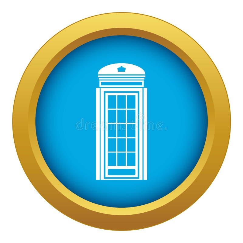 被隔绝的电话亭象蓝色传染媒介 库存例证