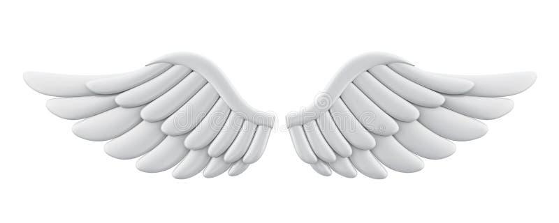 被隔绝的白色天使翼 皇族释放例证