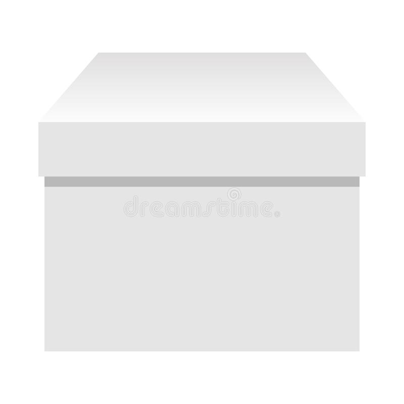 被隔绝的白色简单的包裹礼物盒 皇族释放例证
