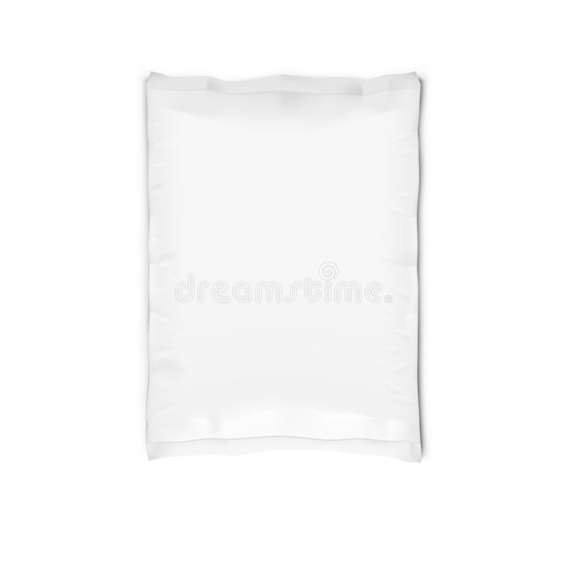 被隔绝的白色Llaminated清楚的充分的纸袋 免版税库存照片