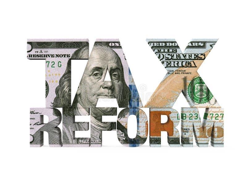 被隔绝的税收改革美元 向量例证