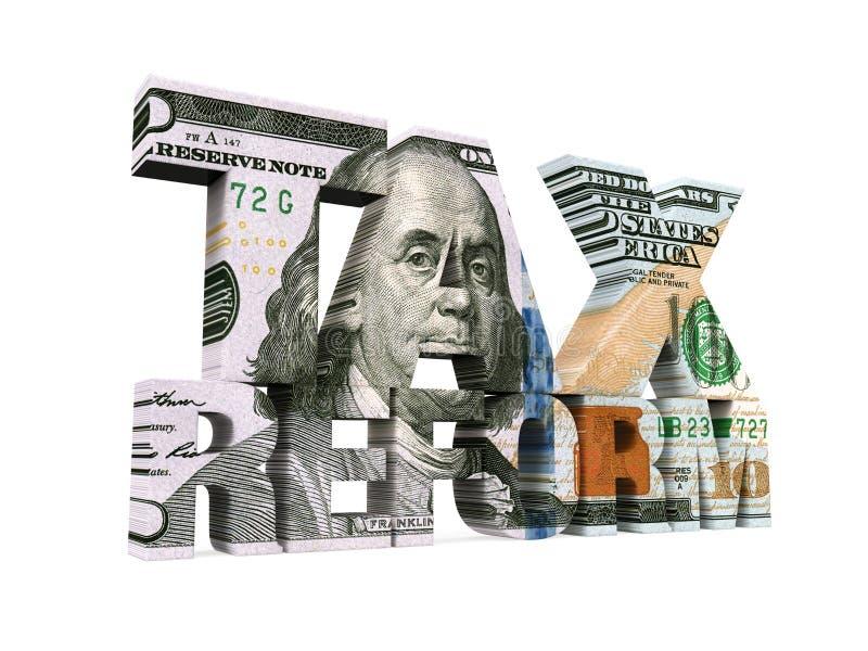 被隔绝的税收改革美元 皇族释放例证