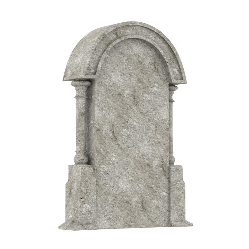 被隔绝的空白的墓碑 向量例证