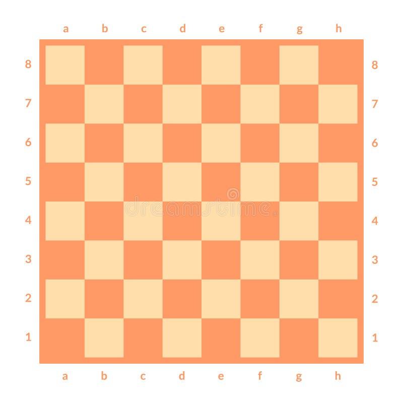被隔绝的空的棋枰 棋或验查员比赛的委员会 战略比赛概念 背景棋盘计算机生成的图象透视图 库存例证