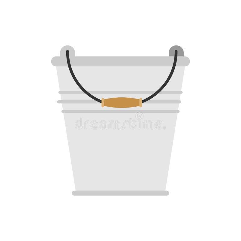 被隔绝的空的铁桶家庭 也corel凹道例证向量 库存例证