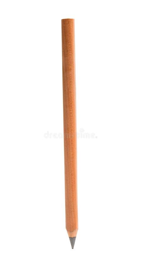 被隔绝的简单的木铅笔 免版税图库摄影