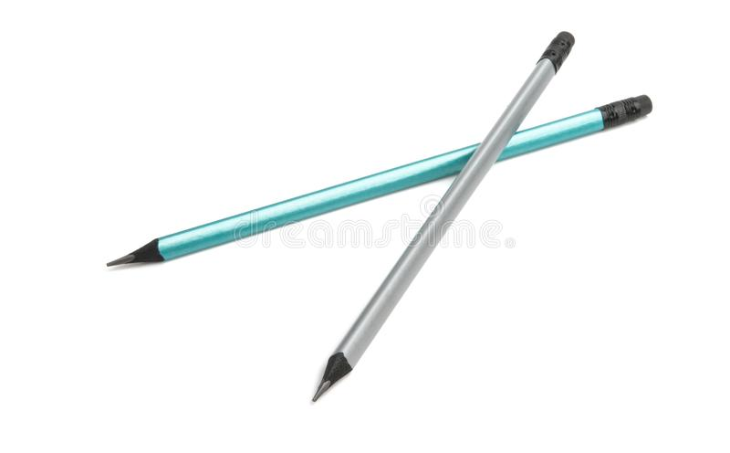 被隔绝的简单的铅笔 免版税库存图片