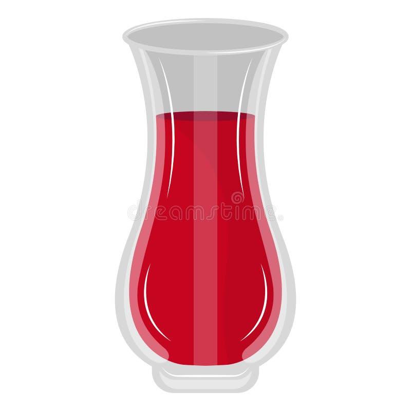 被隔绝的红色汁液瓶子 皇族释放例证