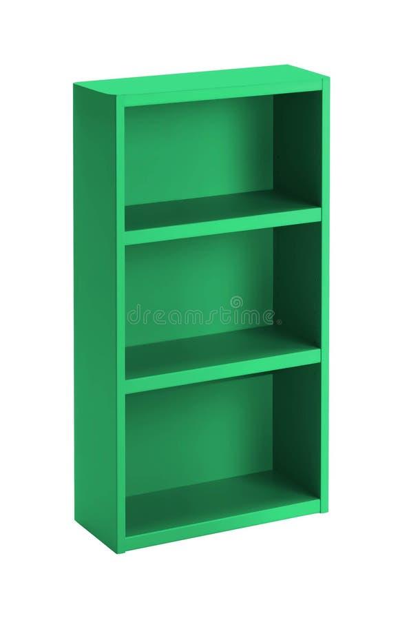 被隔绝的绿色书架 库存图片