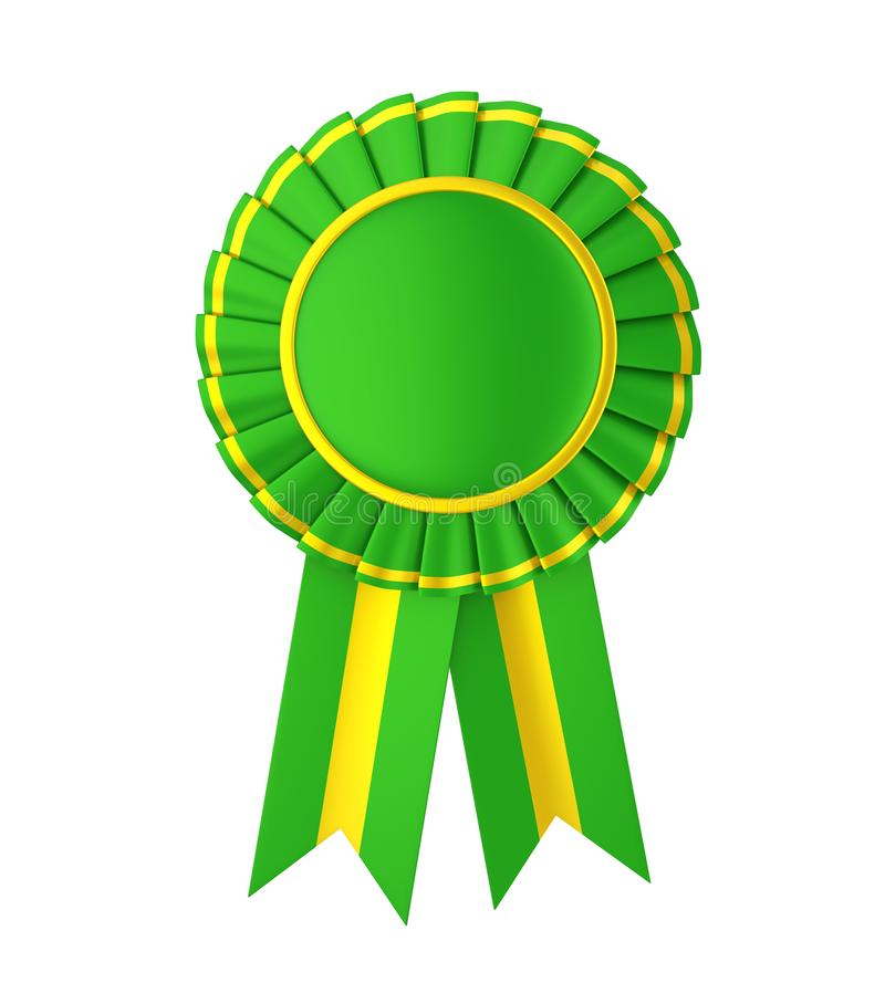 被隔绝的绿色奖丝带 皇族释放例证
