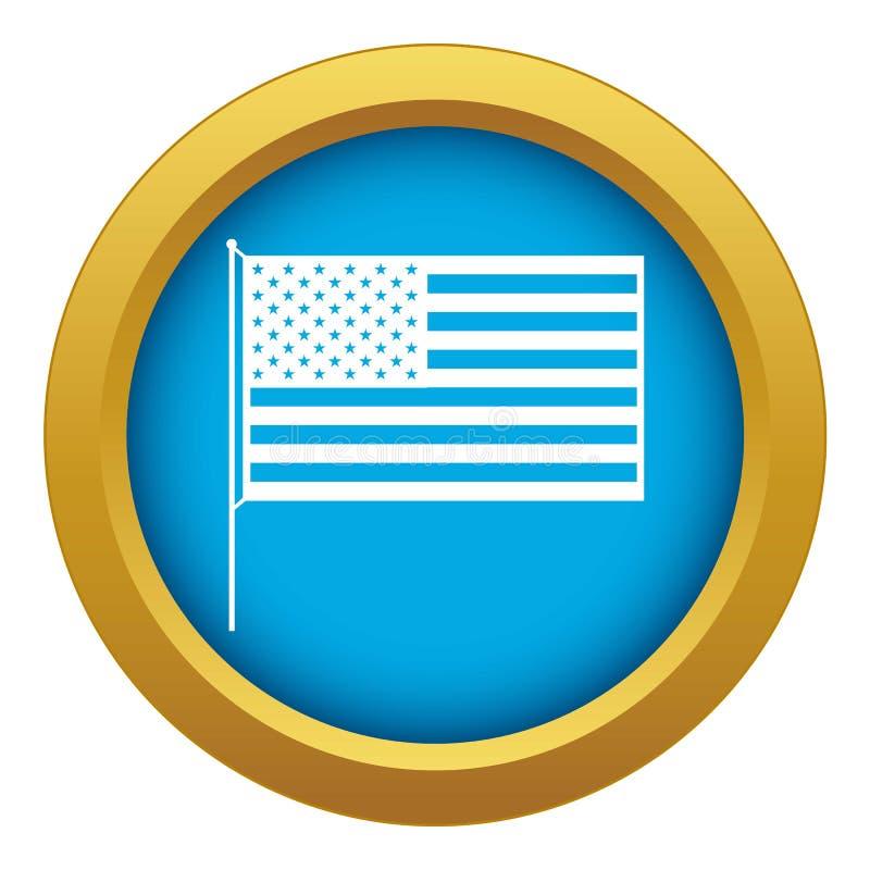 被隔绝的美国国旗象蓝色传染媒介 皇族释放例证