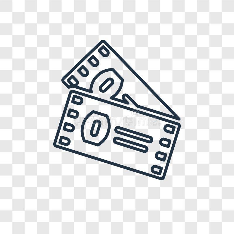被隔绝的美式足球票概念传染媒介线性象  库存例证