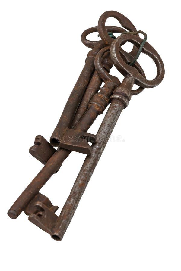 被隔绝的老钥匙 免版税图库摄影
