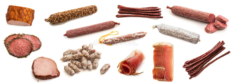 被隔绝的肉制品 库存图片