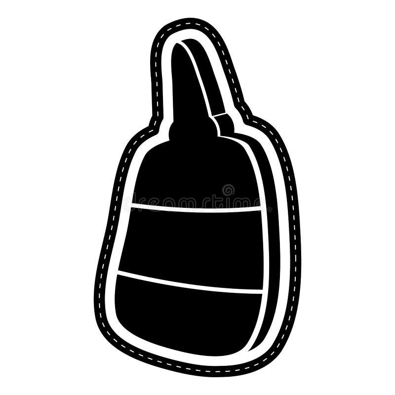 被隔绝的胶浆象加点了贴纸 向量例证