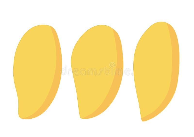 被隔绝的芒果成熟黄色被隔绝的芒果成熟黄色 向量例证