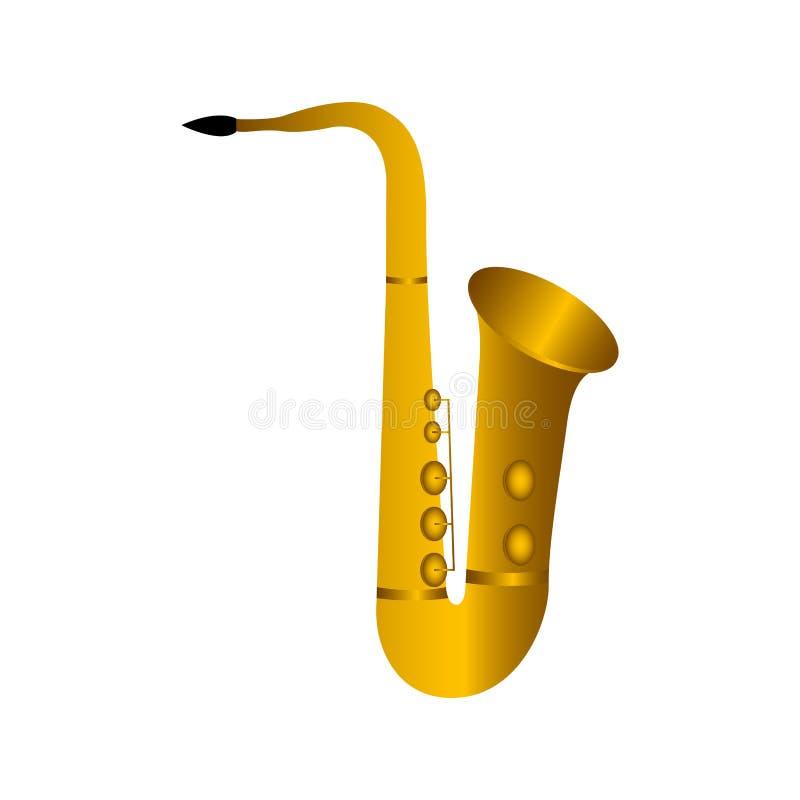 被隔绝的萨克斯管 hornsection仪器音乐零件萨克斯管 向量例证
