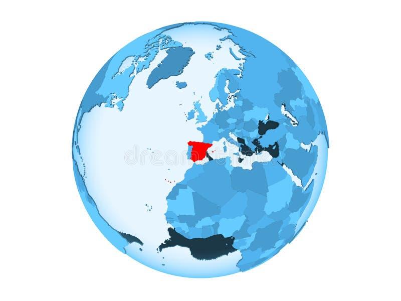 被隔绝的蓝色地球的西班牙 皇族释放例证