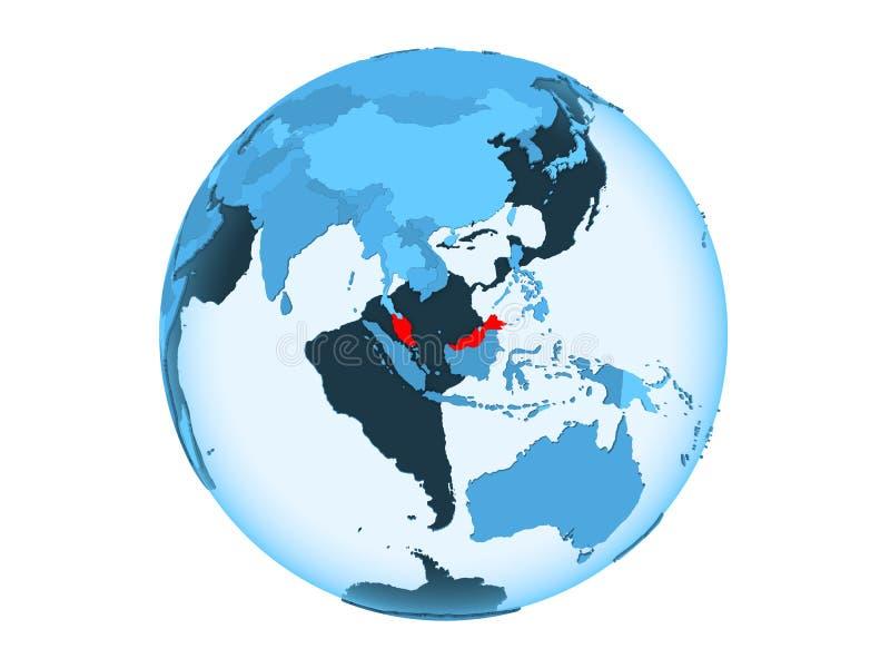 被隔绝的蓝色地球的马来西亚 库存例证