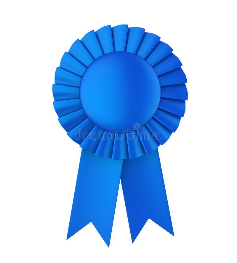 被隔绝的蓝色奖丝带 向量例证