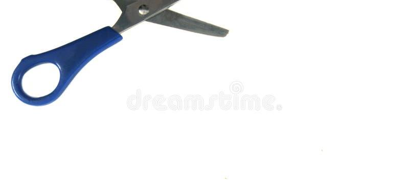 被隔绝的蓝色婴儿剪刀裁减 免版税库存图片