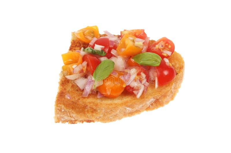被隔绝的蕃茄bruschetta 免版税库存图片