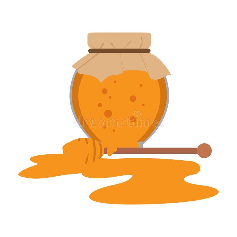 被隔绝的蜂蜜瓶子象 向量例证