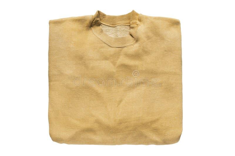 被隔绝的被折叠的运动衫 免版税库存照片