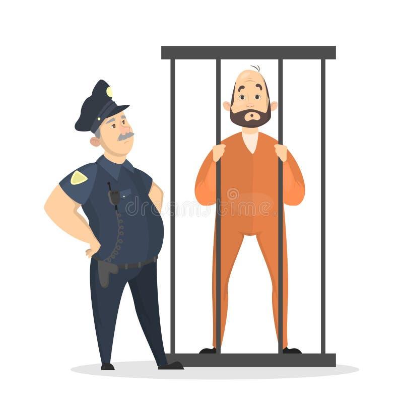 被隔绝的被监禁的集合 库存例证