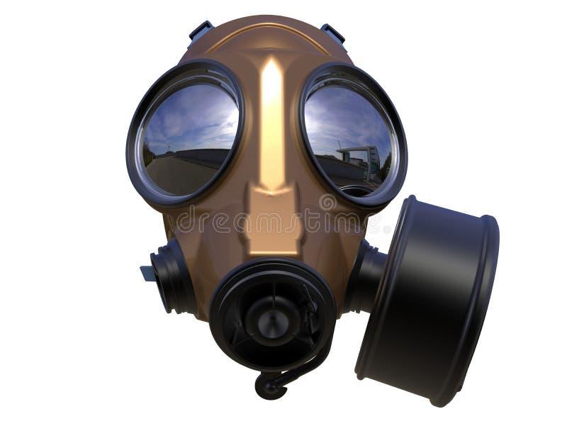 被隔绝的详细的防毒面具 向量例证