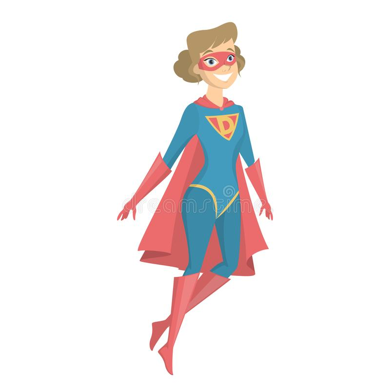 被隔绝的超级女儿 库存例证